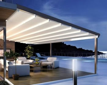 Helioshade All Seasons retractable roof awning