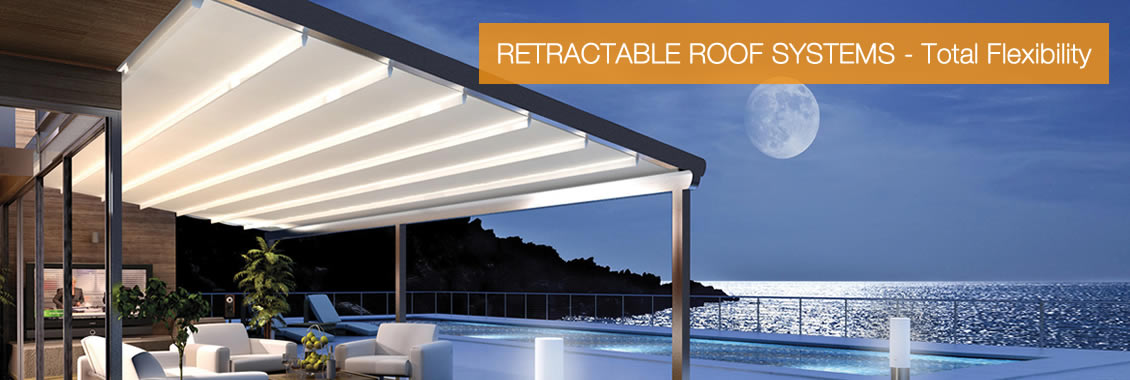 Retractable roof system - total flexiblity