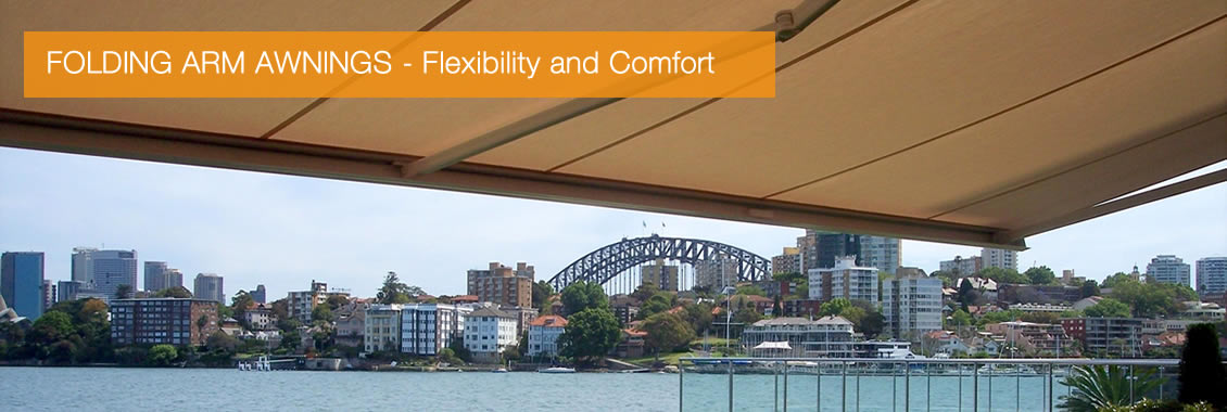 folding arm awnings - flexibility and comfort