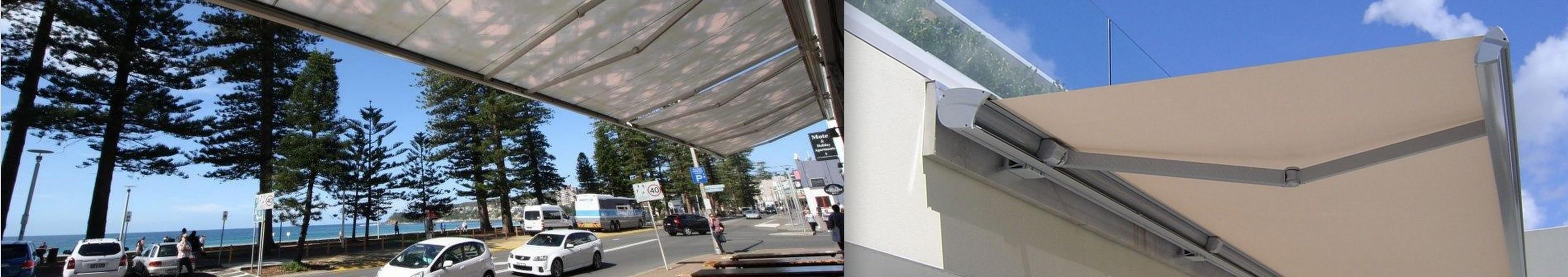 helioshade cassette folding arm awnings banner