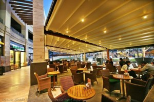Oztech retractable roof awning - Ozsun Shade Systems – Sydney Awnings Pergolas and Patios