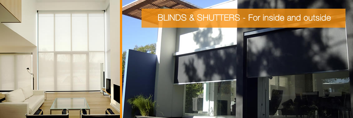 Blinds and shutters - for outside and inside