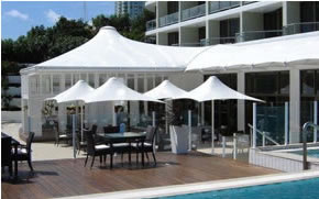 Designer Umbrellas - Ozsun shade Systems