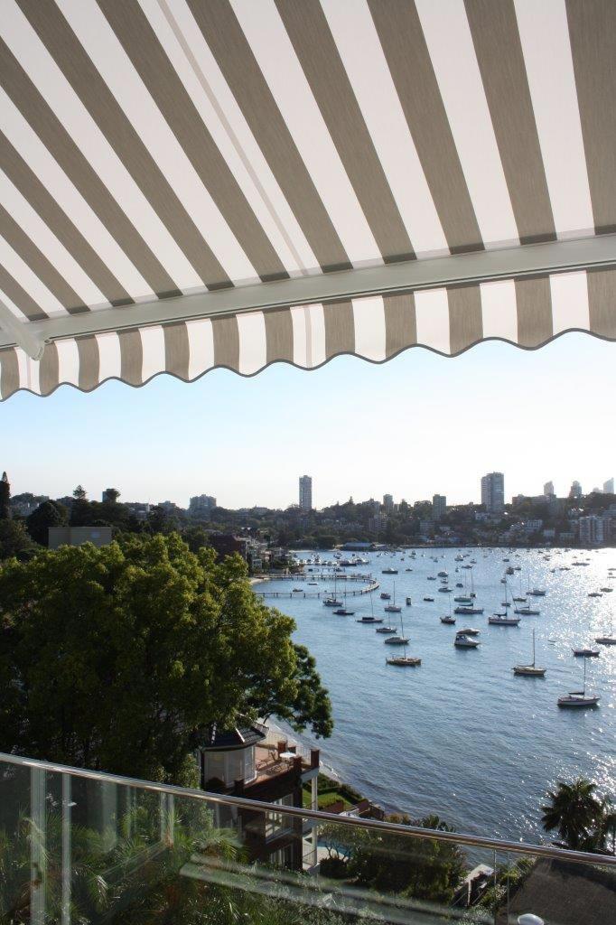 neo folding arm awning Sydney Harbour