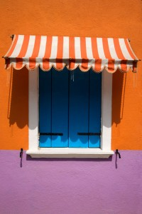Colorful Window with Awning