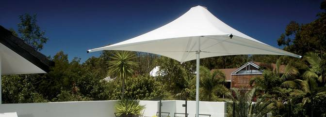 Centra Commercial Umbrella - Ozsun awnings, Sydney