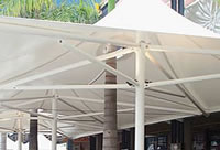 Commercial Umbrella - Ozsun awnings, blinds & shutters, Sydney