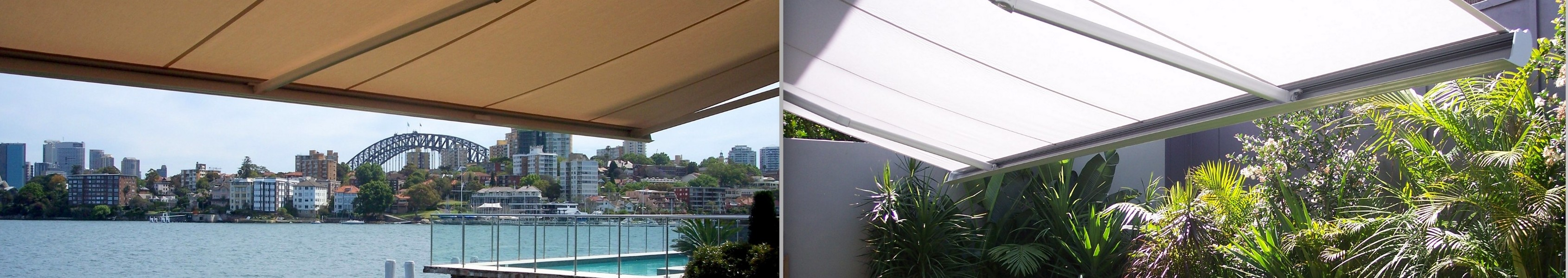 folding arm awnings sydney harbour