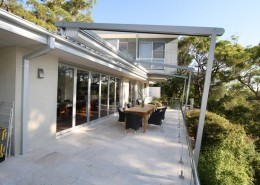 RETRACTABLE ROOF SYSTEM RETRACTED WAHROONGA